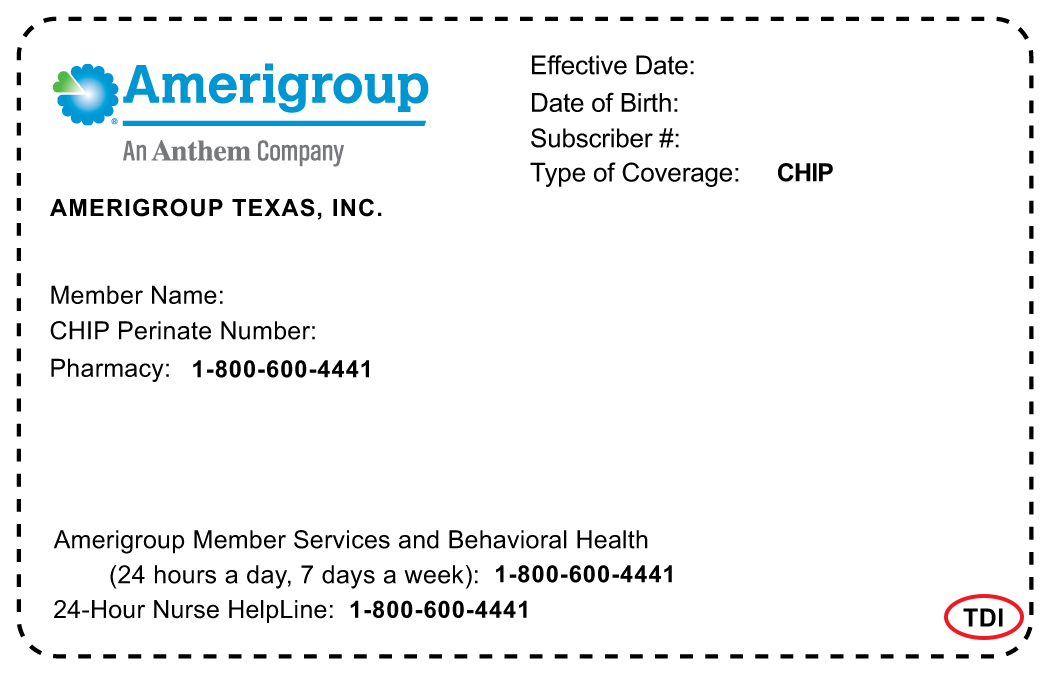 Health plan ID card examples showing TDI or DOI