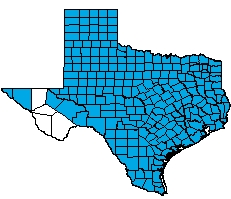 Genex DBA Intracorp Texas Workers Compensation Health Care Network Service Area Map